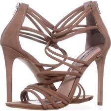 Steve Madden Santi Strappy Dress Sandals 715, Camel Leather, 6 UK