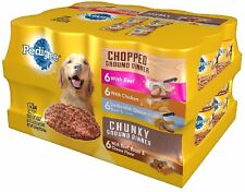 Pedigree Chopped Ground Dinner Wet Dog Food Variety Pack 13.2 Oz 24 Ct