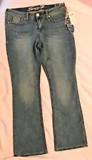 NWT SEVEN 7 Womens Slim Boot Knit Blue Denim Jeans-Size 14-MSRP $74