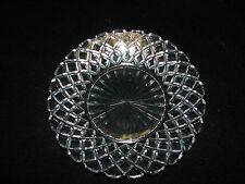 Vintage Anchor Hocking Crystal Waffle Pattern Bread and Butter or Dessert Plate