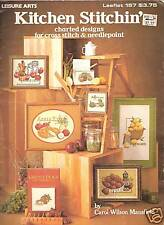KITCHEN STITCHIN' ** CROSS STITCH (different foods)