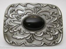 BELT BUCKLES metal western cabochon gemstones accessories BLACK STONE buckle NEW