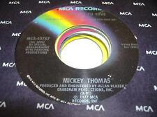 UNPLAYED NM! Rock 45 MICKEY THOMAS Somebody To Love on MCA