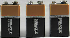 Brand New 3 Pcs Duracell CopperTop 9V 9 Volt 9 V Batteries Expires 2020