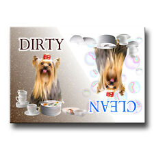 Yorkshire Terrier Clean Dirty Dishwasher Magnet Yorkie