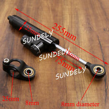 Black HI-Q 255MM Universal Steering Damper Stabilizer For Honda Yamaha Kawasaki