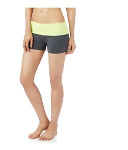 Aeropostale Womens Yoga Athletic Workout Shorts, Yellow, X-Small