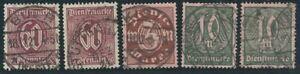 Deutsches Reich DR 1921 MiNr. 66-68 Dienstmarken gestempelt Infla geprüft