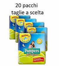 PANNOLINI PAMPERS SOLE E LUNA 20 PACCHI TAGLIA A SCELTA 2-3-4-5-6 ASSORTIBILI