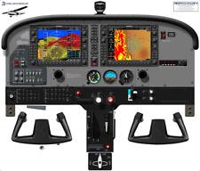 Cessna 172S Skyhawk Cockpit Poster with SVT Garmin G1000 built-in Auto Pilot