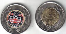 2 Canadian 2020 Toonies Grizzly Bear Haida artist Bill Reid two dollar coins