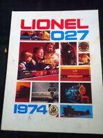 LIONEL 027 1974 CONSUMER CATALOG! ORIGINAL