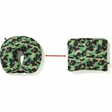 A BATHING APE 2-Way Style Travel Neck Pillow ABC CAMO Green Japan with Tracking