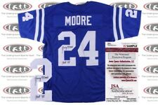 Lenny Moore Signed Custom Pro Style Jersey JSA Witnessed