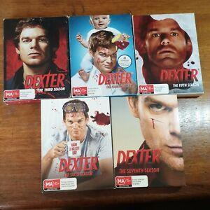 Dexter Season 3 4 5 6 7 DVD R4 Like New! FREE POST