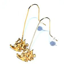 BICHE DE BERE Boucles d'oreilles originales couleur or Hérisson bijou earring A1
