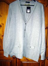 MENS SAINT GEORGE by DUFFER GREY CARDIGAN SIZE LARGE New With Tags RRP.£35