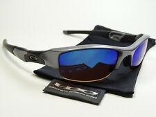 Oakley Flak Jacket Grey G30 Blue Sonnenbrille Fast Straight Racing Half Jawbone
