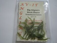 50 x Rig alineadores curso Gancho De Pesca De Carpa/Mangas Translúcido Verde