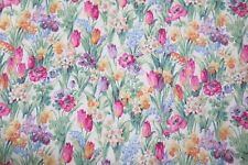"SANDERSON CURTAIN FABRIC ""Salad Days"" 3 METRES CELADON/MAGENTA 100% COTTON"