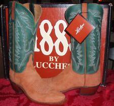 Lucchese(1883) N7192  Green/Rust  Leather Western Cowboy Boots 6.5 M-NIB