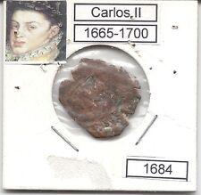 Carlos II  4 Maravedís  Segocia  1684       NL315