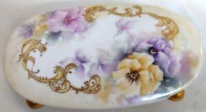 Hand-Painted Ceramic Jewelry Box