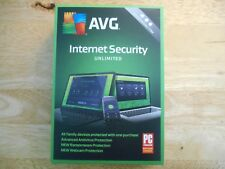 AVG Internet Security 2018/2019 Unlimited Devices 1 Year * Boxed Version for PC