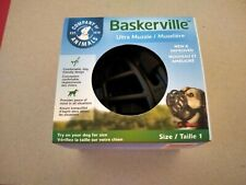 Baskerville Ultra Muzzle Size 1 Small Dogs Black Safe & Comfortable Training