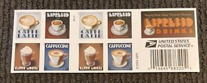 BRAND NEW! EXPRESSO DRINKS FOREVER STAMPS BOOKLET OF 20 MNH