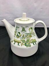 Norwegian Figgjo Flint Turi Design Market Pattern Porcelain Tea Pot #1054