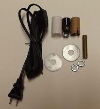MAKE A MINI LAMP KIT WITH CANDELABRA SOCKET,BLACK CORD SET W/LINE SWITCH 941J