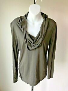Lucy Green Long Sleeved Modal/Cotton Athletic Shirt - Small