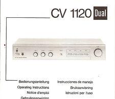 Bedienungsanleitung Notice d ´emploi Handbook Instruction Dual CV 1120