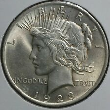 1923 Peace Silver S$1 One Dollar Coin