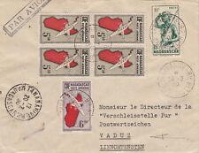 Lettre Tananarive Madagascar Vaduz Liechtenstein Bloc Cover