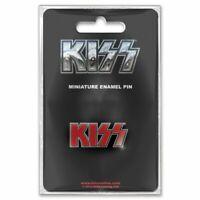 Kiss Logo Mini Pin Badge Official Merchandise - NEU