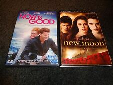 NOW IS GOOD & TWILIGHT SAGA NEW MOON-2 dvds-DAKOTA FANNING,ROBERT PATTINSON