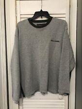Abercrombie & Fitch Sweater Men's M Gray Green Stripe Abercrombie Logo Vintage