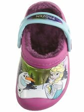Kids Crocs FROZEN  Fuzzy  Berry Color Lined Clog  Girls Size 1