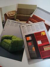 Möbel italienisches Design arflex Bonte Kataloge Messekataloge 80er Jahre