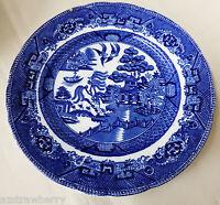 "VTG BOURNE & LEIGH FLOW BLUE WILLOW LUNCHEON PLATE 9""  E.B. & J.E.L. ENGLAND"
