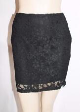 Quirky Circus Designer Black Lace Mini Skirt Size 12-M BNWT #TB81