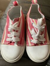 4T Girls Old Navy Striped Gym Tennis Converse Style Shoe Chucks