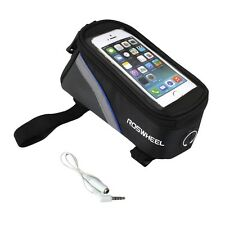 Bicycle MTB Front Tube Cell Phone Bag Pouch Holder Frame For Samsung iPhone 4.2""
