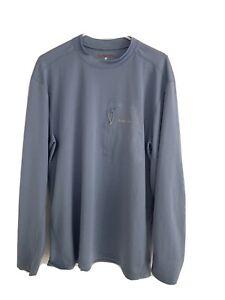 Simms Solarflex Sun Shirt Blue Sz Large