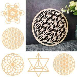 Laser Cut Wood Flower of life Chakra Metatron Cube Energy Sacred geometry Decor