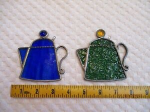 Vintage Stained Glass Teapots