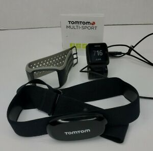 TomTom Multisport GPS Watch 8RS00 Face, Band, Dock, Manual & Belt