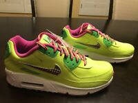 New Nike Air Max 90 Volt Fire Pink Sneaker Shoes Size US 8.5